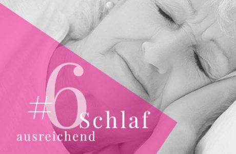 6. Genügend Schlaf